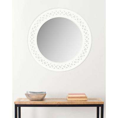 Braided Chain 24 in. H x 24 in. W solid Wood Framed Mirror