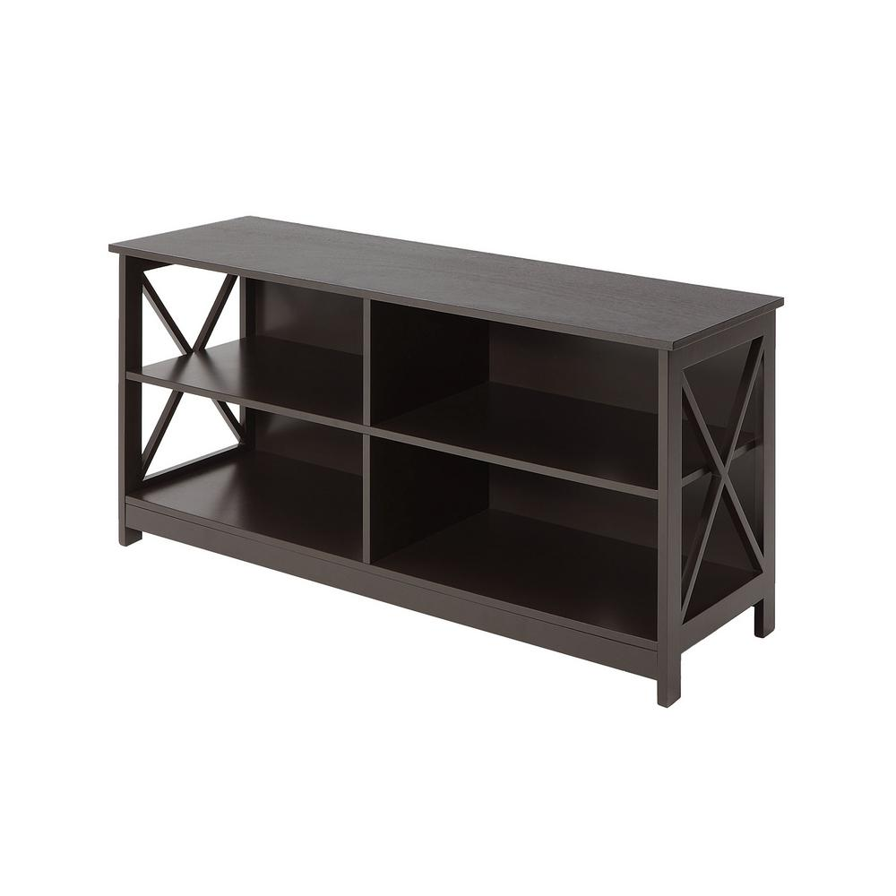 Convenience Concepts Oxford Espresso Tv Stand S20 221 The Home Depot