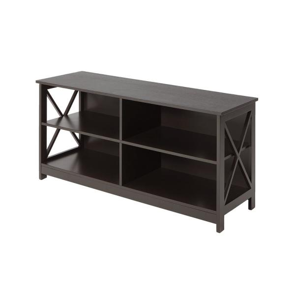 Oxford 47 in. Espresso Wood TV Stand Fits TVs Up to 46 in. with Cable Management