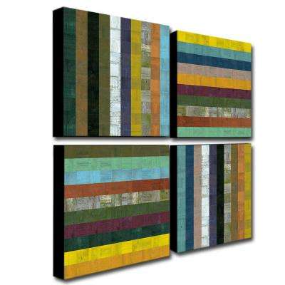 Wooden Abstract V by Michelle Calkins 4-Panel Wall Art Set
