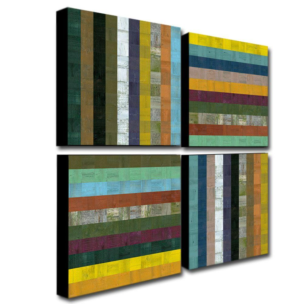 Trademark Fine Art Abstract IX by Michelle Calkins 2-Panel Wall Art Set