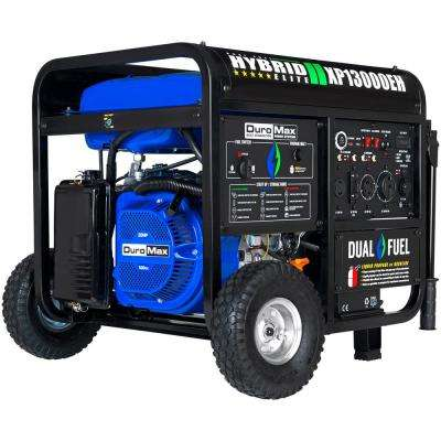 13000/10500-Watt Push Start Heavy-Duty Dual Fuel Powered Portable Generator Transfer Switch and Home Backup Ready