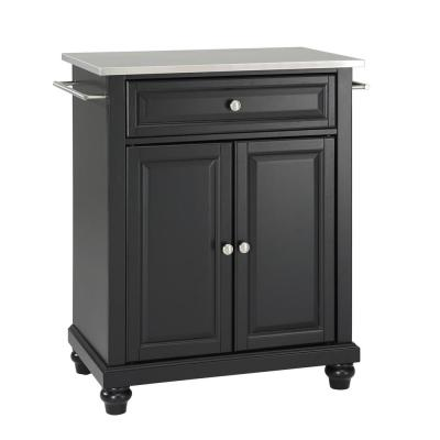 Cambridge Portable Kitchen Island with Stainless Steel Top