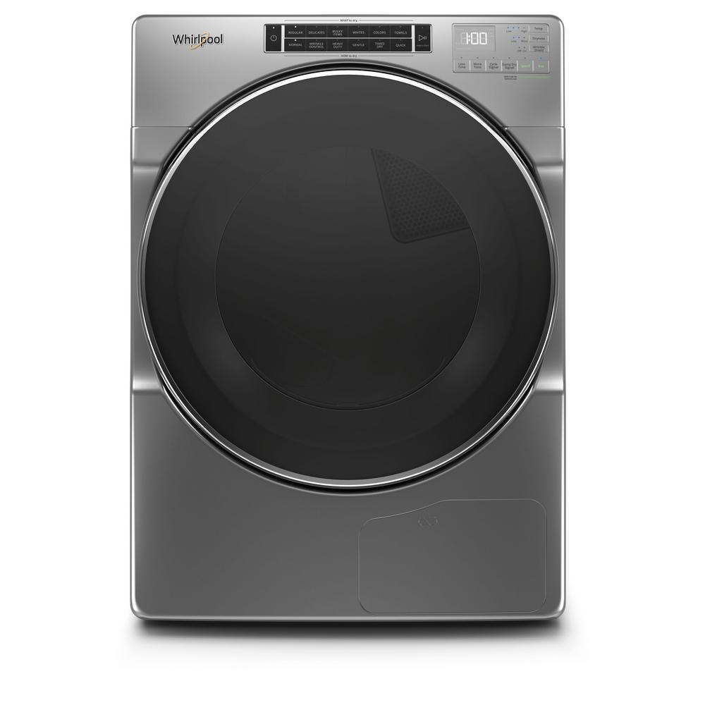 Whirlpool 7.4 cu. ft. 240-Volt Stackable Chrome Shadow Electric Ventless Dryer with Intuitive Touch Controls, ENERGY STAR