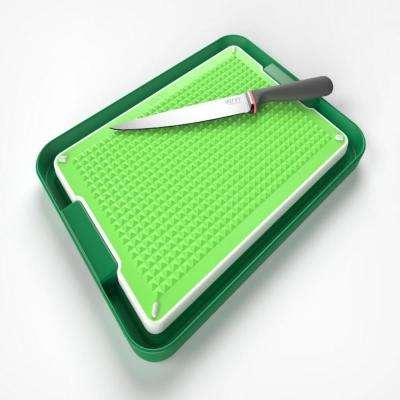 Chopping Board and Tray Set in Green