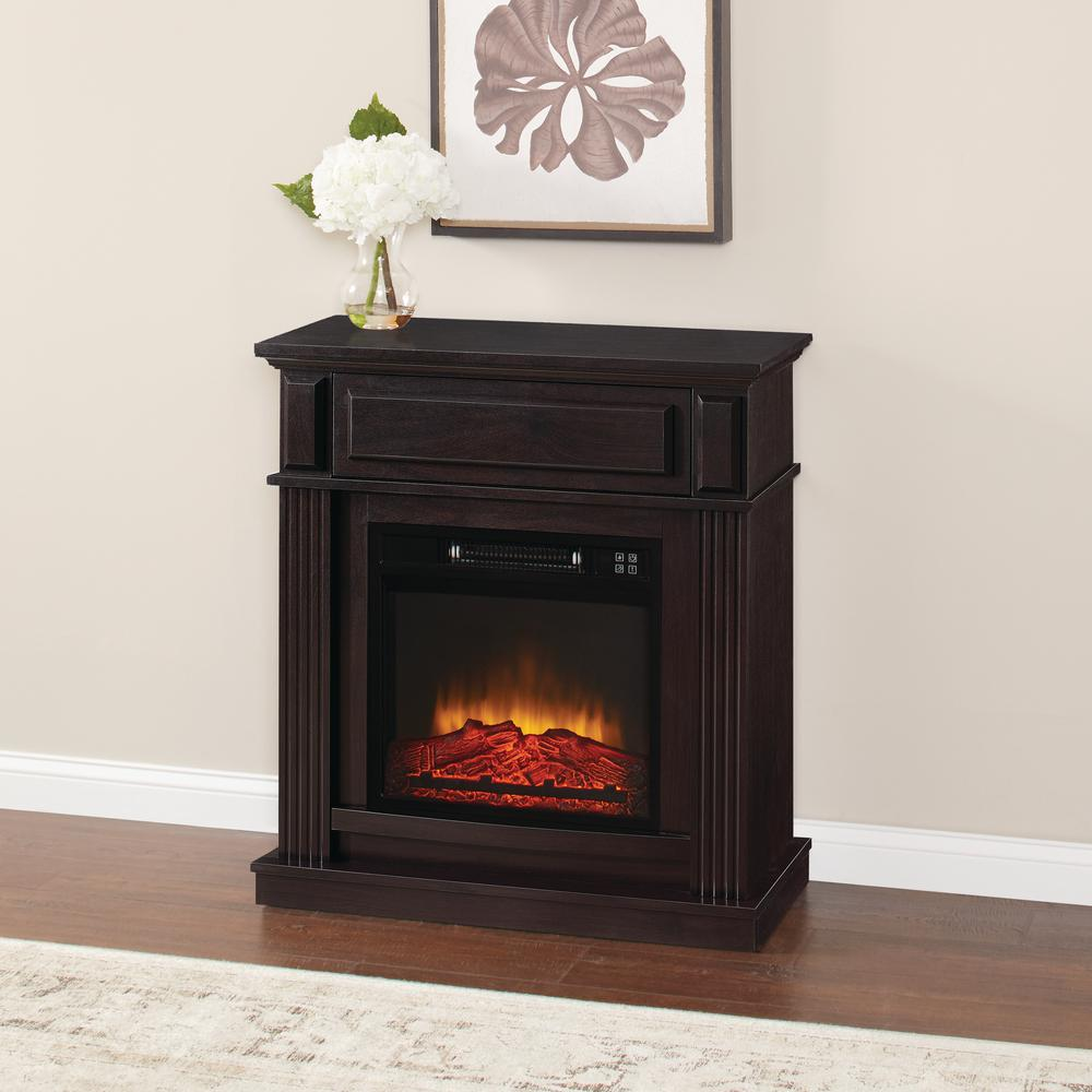 Electric Fireplace Heaters Home Depot: Home Decorators Collection Highland 50 In. Faux Stone
