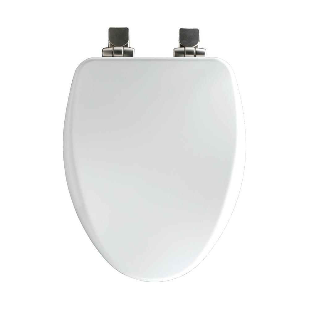 Prime Bemis Slow Close Elongated Closed Front Toilet Seat In White Machost Co Dining Chair Design Ideas Machostcouk