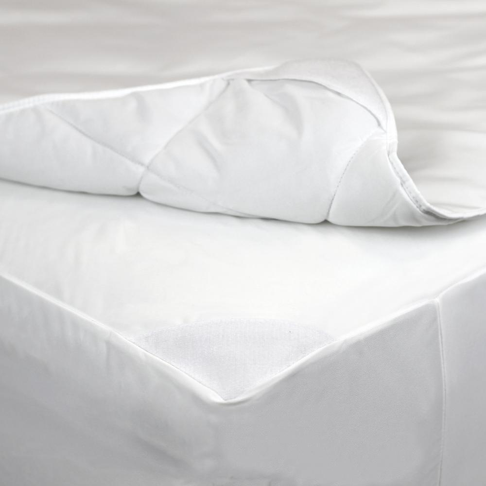 2-in-1 Mattress Pad and Fitted Full Waterproof Mattress Protector
