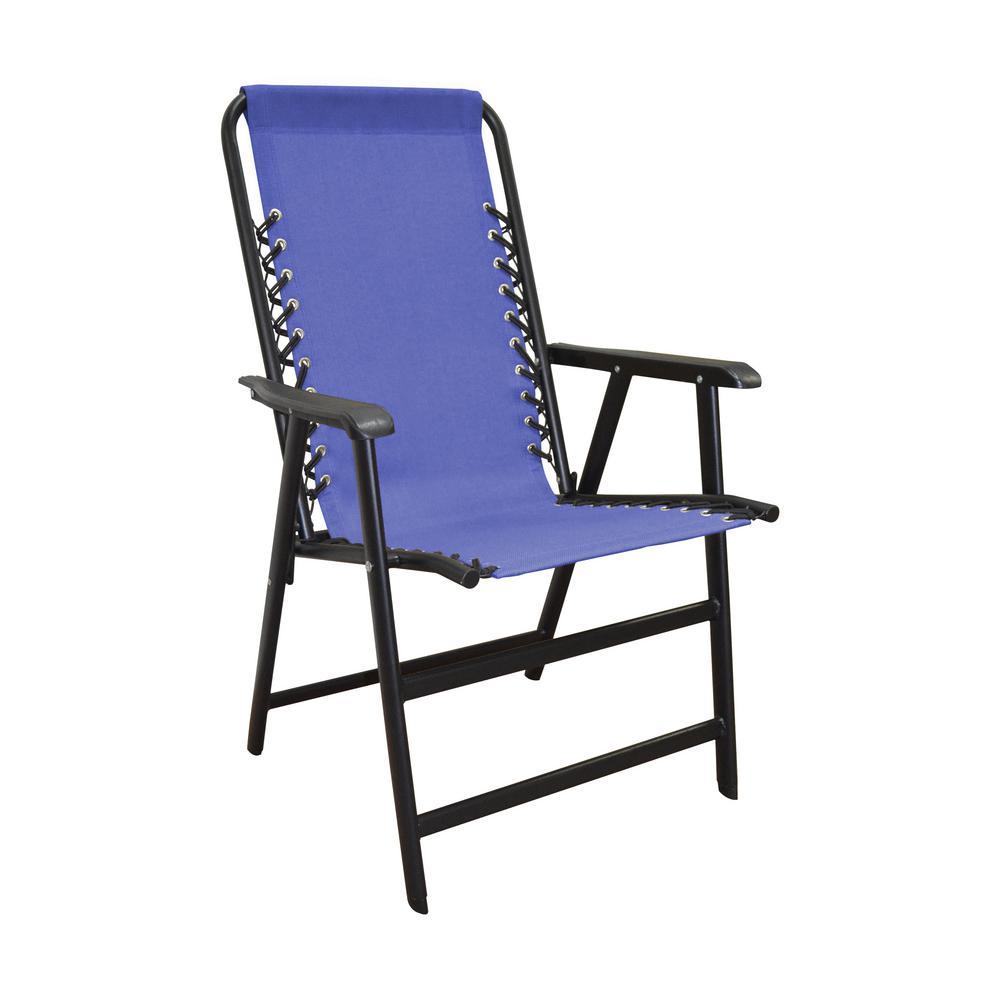 Caravan Sports Suspension Blue Metal Patio Chair