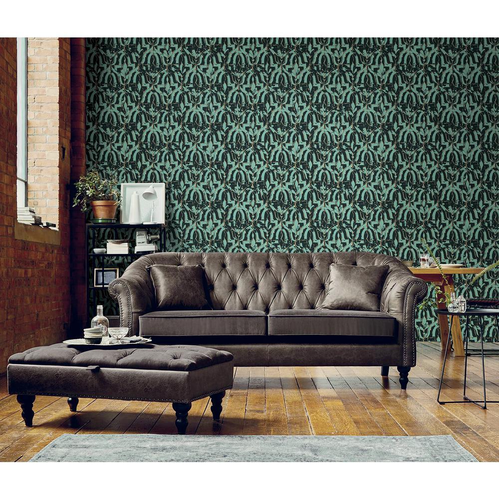 Belli Turquoise Geometric Wallpaper
