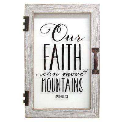 Our Faith Can Move Mountains Printed Glass Decor