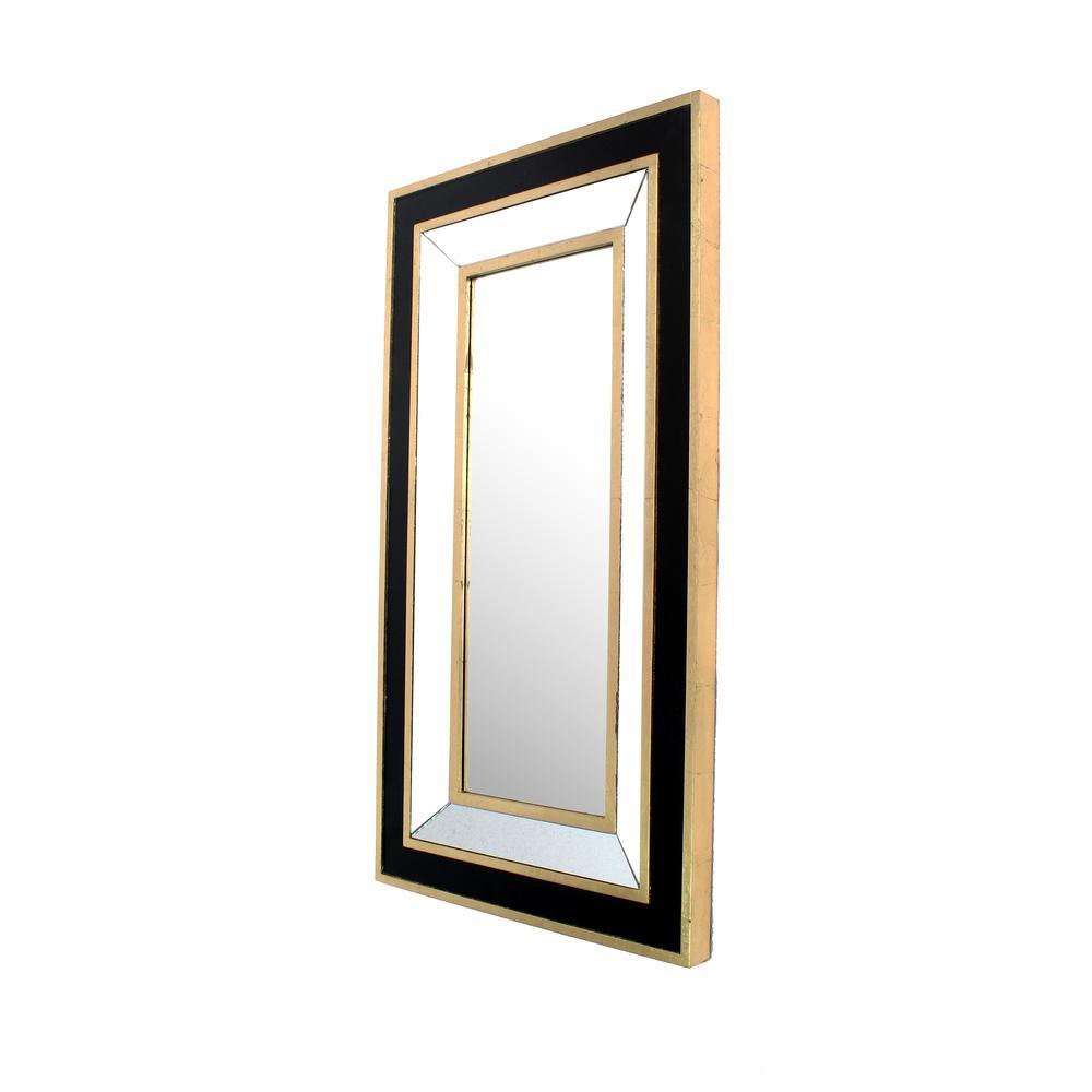 Black Gold Decorative Wall Mirror
