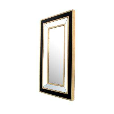 Black Gold Decorative Wall Mirror