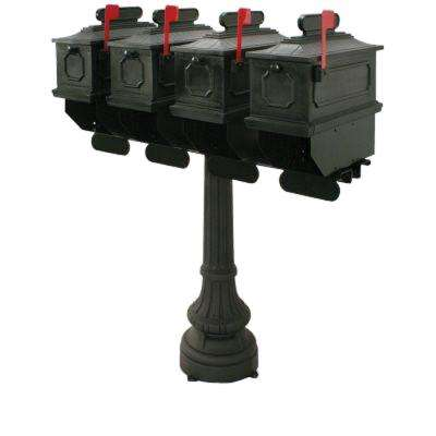 1812 Carthage 50 in. Plastic Mailbox with Post
