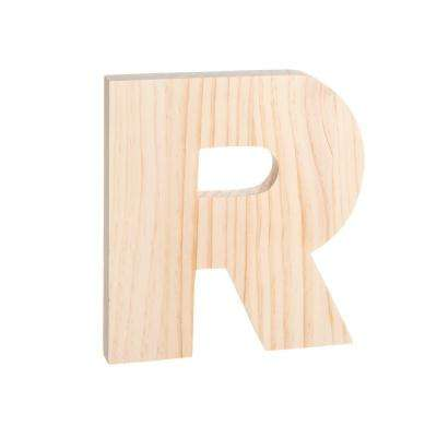 Alpha 8 in. Letter R in Unfinished Wood