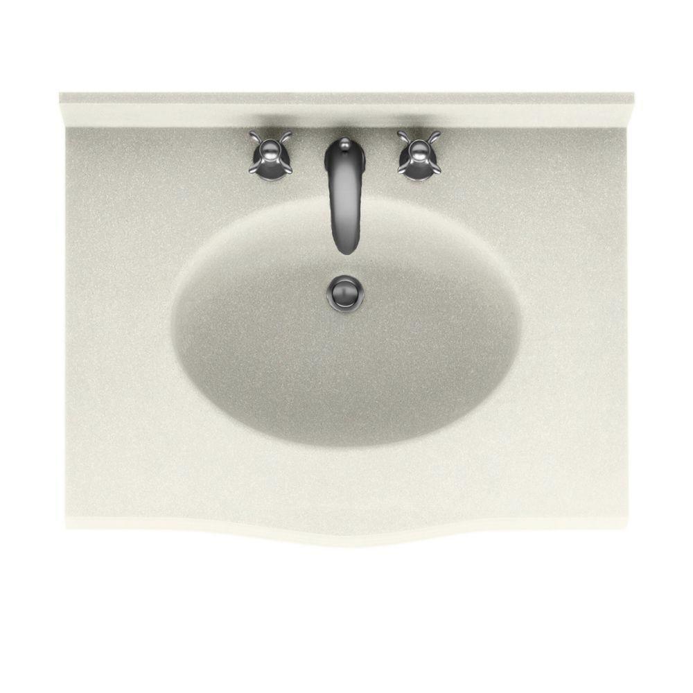 Swanstone Europa 25 In W X 22 5 In D Solid Surface Vanity Top With Sink In Bisque Ev1b2225 018