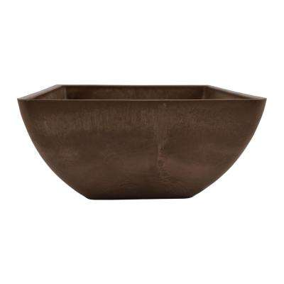 Simplicity Square 12 in. x 12 in. x 6 in. Chocolate PSW Pot