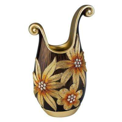 18 in. H Demeter Decorative Vase in Golden
