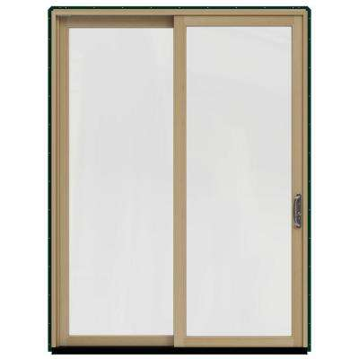 72 in x 96 in w 2500 contemporary green clad wood left - Patio Single Door