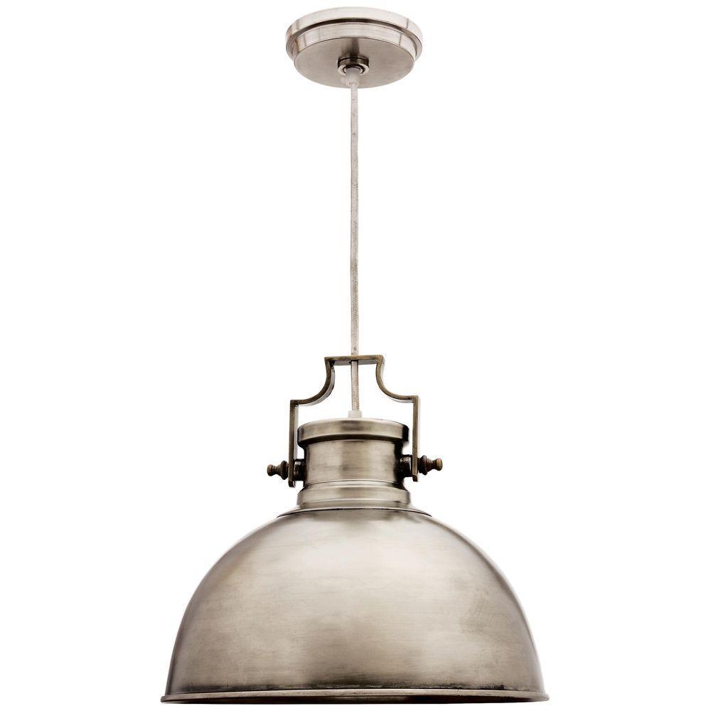 Nautilus 1-Light Antique Nickel Pendant