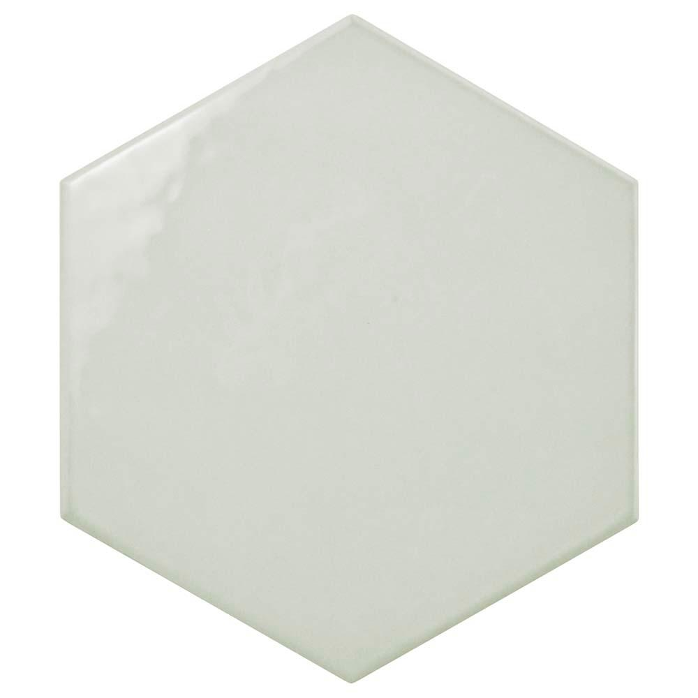 Merola Tile Hexatile Glossy Gris 7 in. x 8 in. Ceramic Floor and Wall Tile (2.2 sq. ft. / pack)