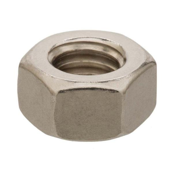 M8-1.25 Stainless Steel Metric Hex Nut (2-Piece per Bag)