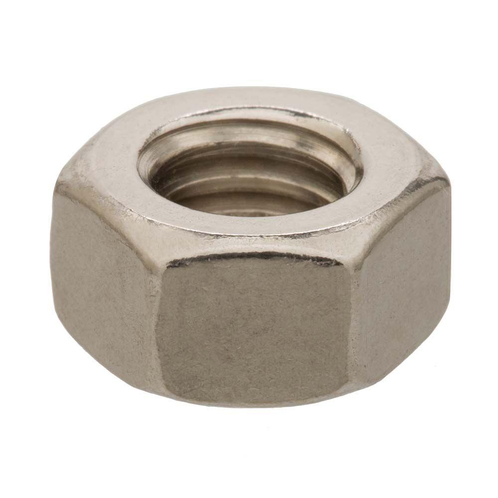 #8-32 Stainless Steel Hex Nut (50-Piece)