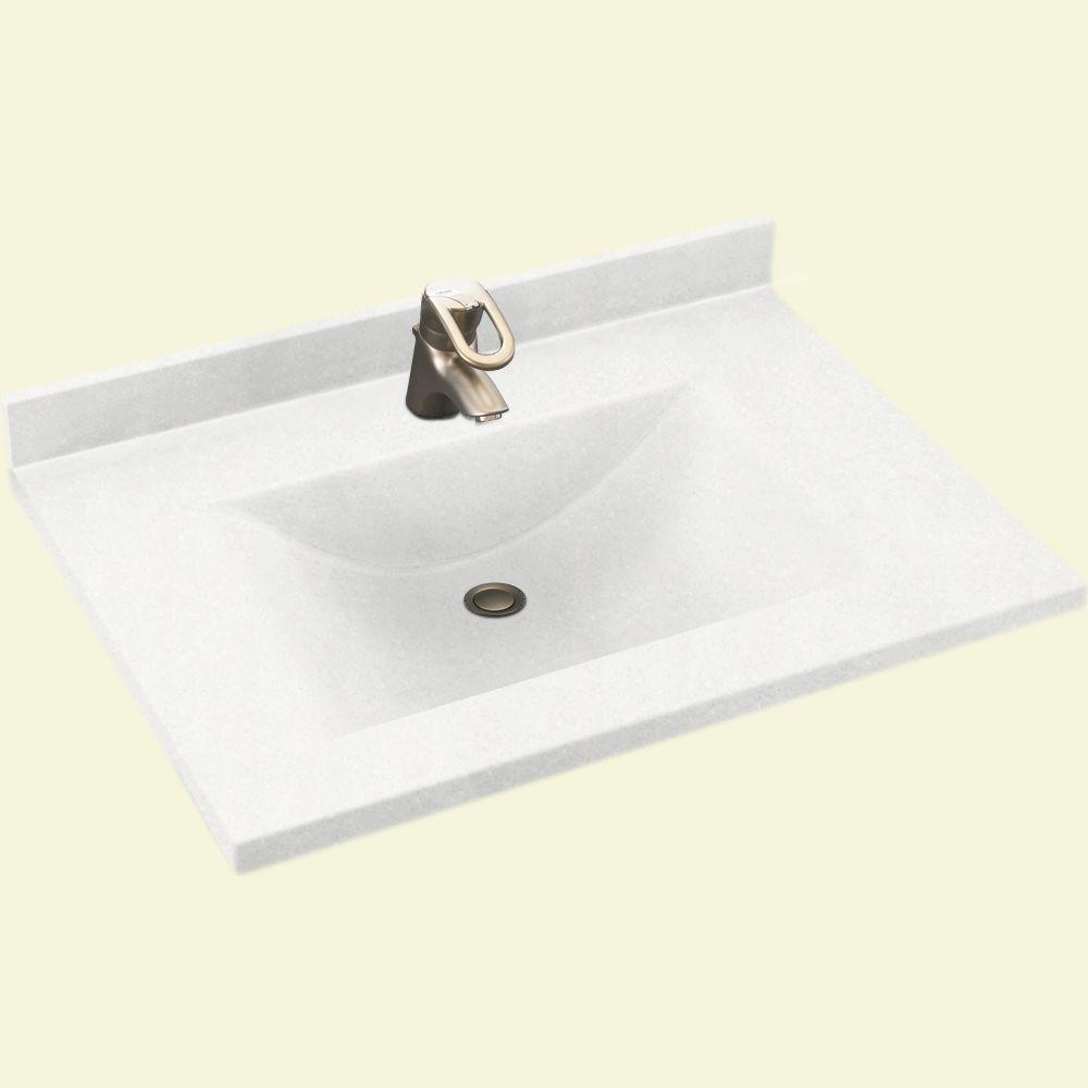Contour 31 in. W x 22 in. D Solid Surface Vanity