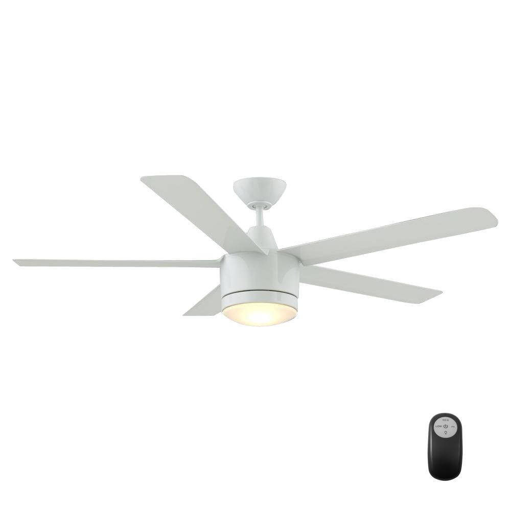 Home Decorators Collection Merwry 52 In. LED Indoor Brushed Nickel Ceiling  Fan With Light Kit And Remote Control SW1422   The Home Depot