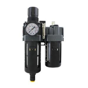 1/4 inch NPT Polycarbonate FRL Air Filter Regulator with Lubricator