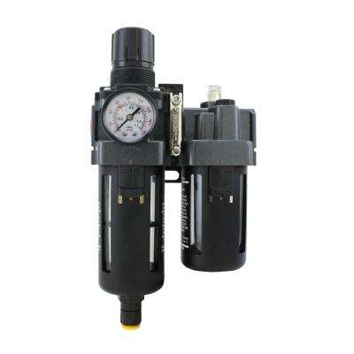 1/4 in. NPT Polycarbonate FRL Air Filter Regulator with Lubricator
