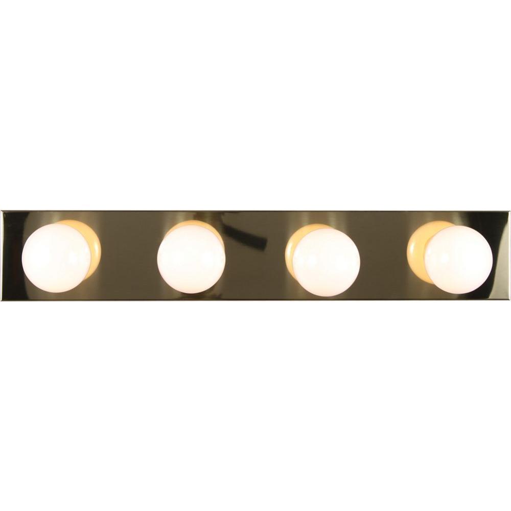 4-Light Polished Brass Bath and Vanity Light