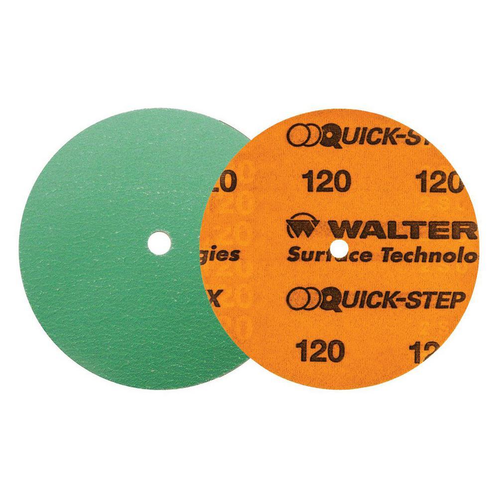 QUICK-STEP XX 6 in. x GR120 Velcro Sanding Discs (25-Pack)