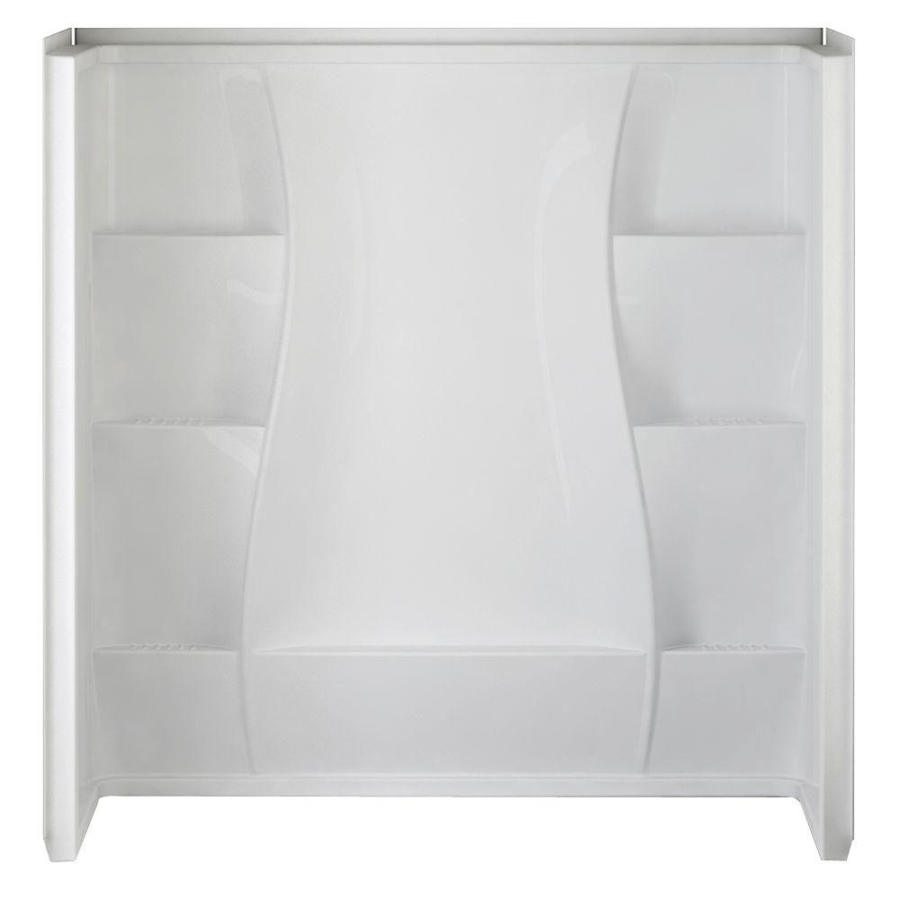 Delta 32 in. x 60 in. x 61.5 in. 5-Piece Direct-to-Stud Tub Wall Set ...
