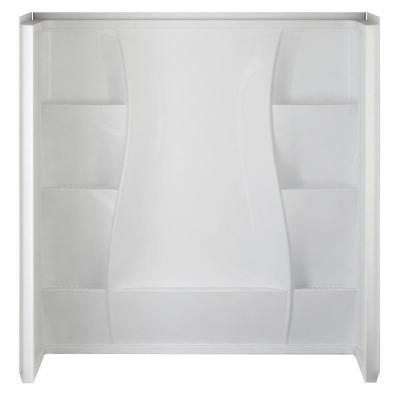 32 in. x 60 in. x 61.5 in. 5-Piece Direct-to-Stud Tub Wall Set in White