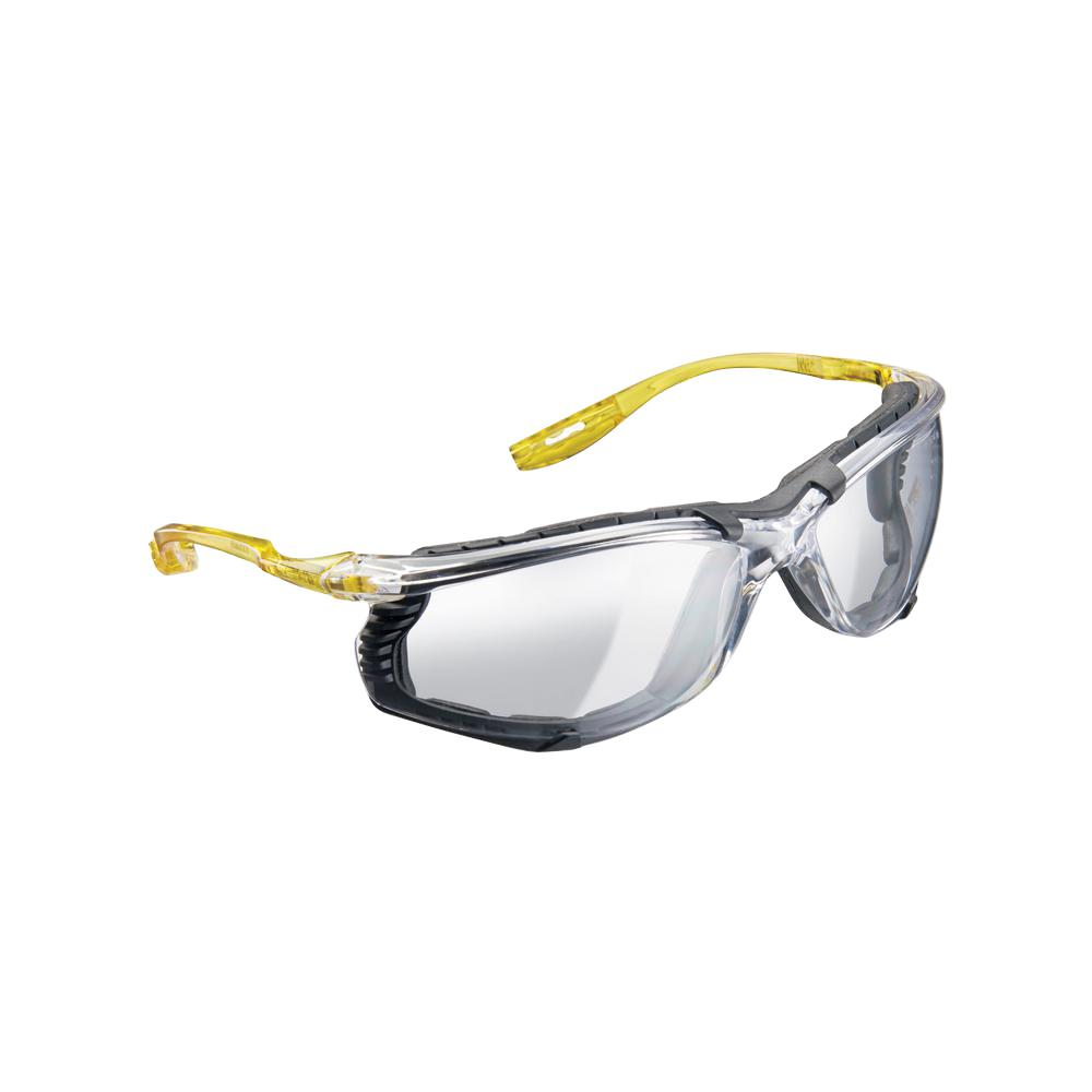 Holmes Workwear Clear Frame with Yellow Temple Accents with Clear Lenses