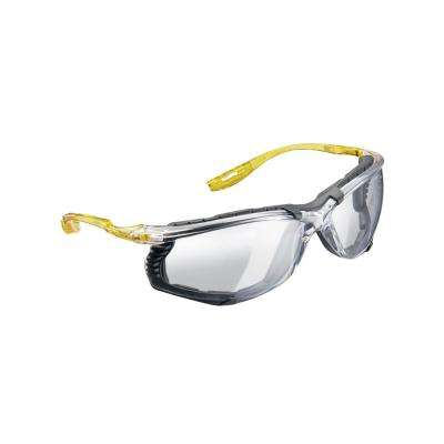 Holmes Workwear Clear Frame with Yellow Temple Accents with Clear Lenses Safety Glasses (Case of 6)