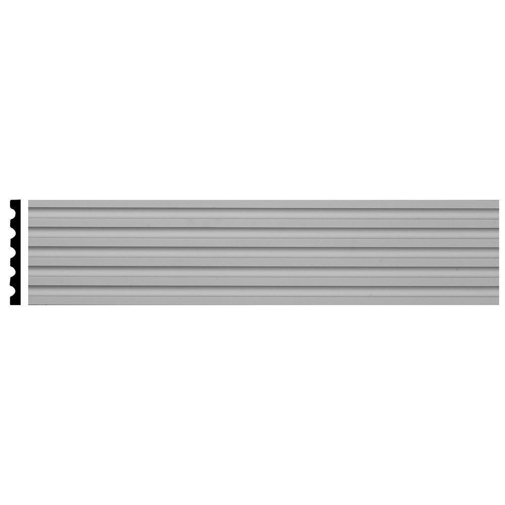 Ekena Millwork 5/8 in. x 5-1/8 in. x 78-3/4 in. Primed Polyurethane Fluted Casing