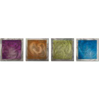 Brevium 12 in. x 38 in. Seasonal Essence Metal Wall Art (Set of 4)