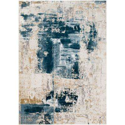 Fortunata Denim 6 ft. 7 in. x 9 ft. 6 in. Abstract Area Rug