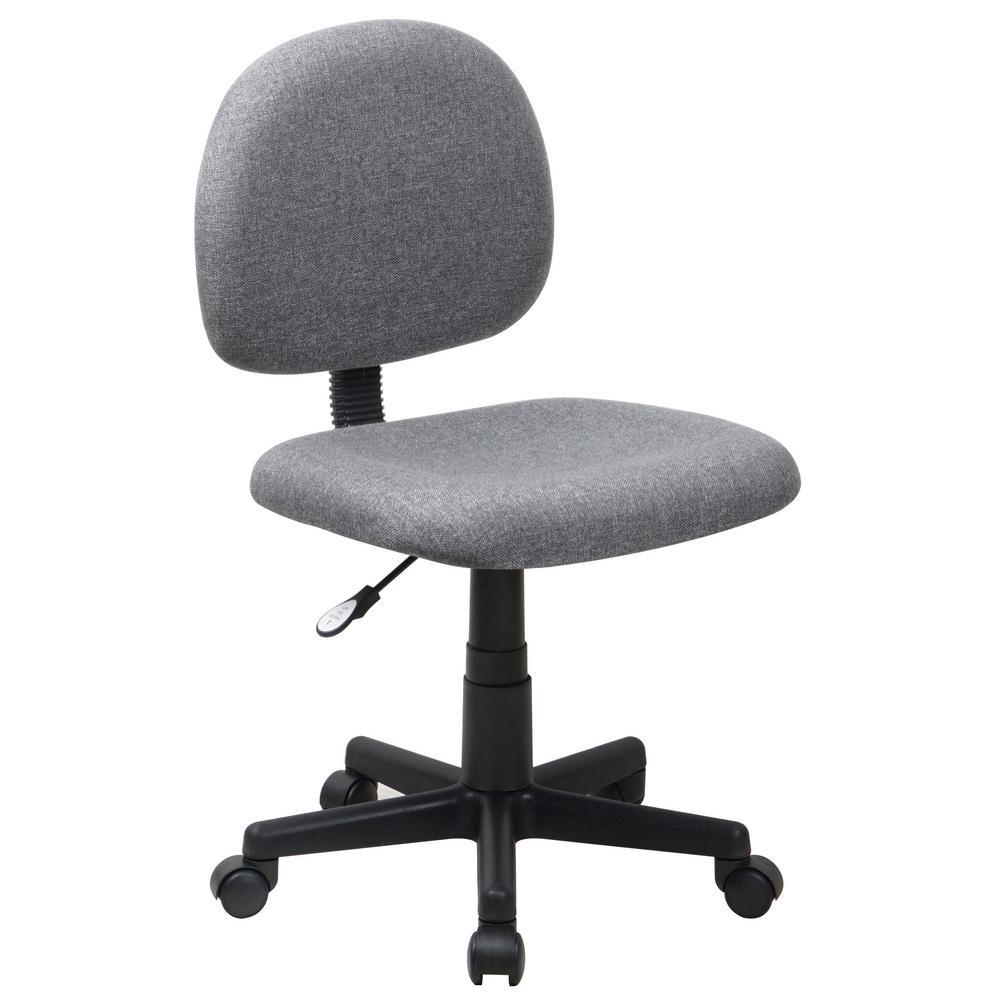 Flash Furniture Low Back Ergonomic Gray Fabric Swivel Task Chair BT660GY