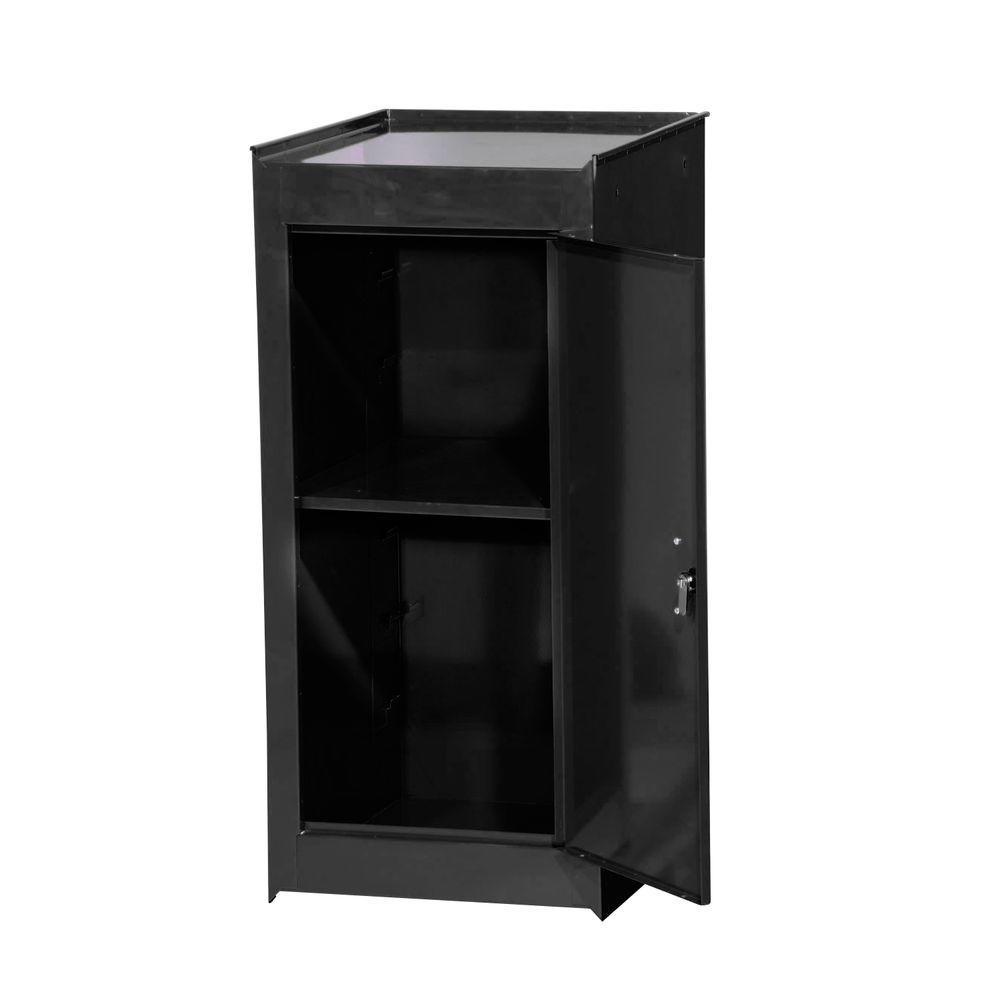 Tech Series 15 in. 1-Shelf Full Side Locker, Black