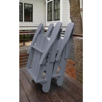 Recycled Grey Folding Plastic Adirondack Chair