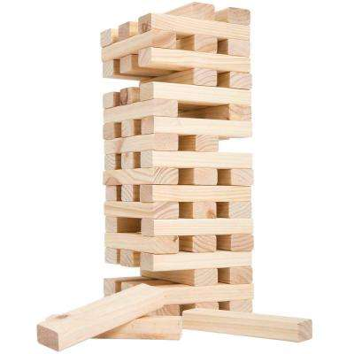 Non-Traditional Giant Wooden Blocks Tower Stacking Game