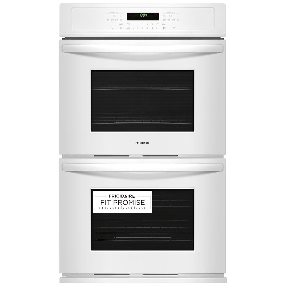 Frigidaire 27 In Double Electric Wall Oven Self Cleaning White