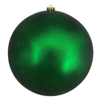 10 in. (250 mm) Green Xmas Commercial Shatterproof Matte Christmas Ball Ornament