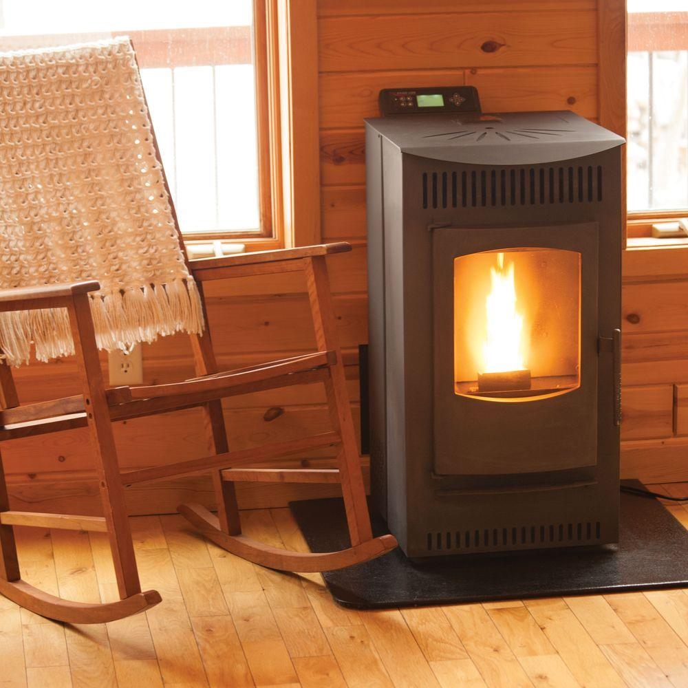 Castle 1 500 Sq Ft Pellet Stove With 40 Lb Hopper And