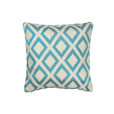 Royden Frame Turquoise Decorative Pillow