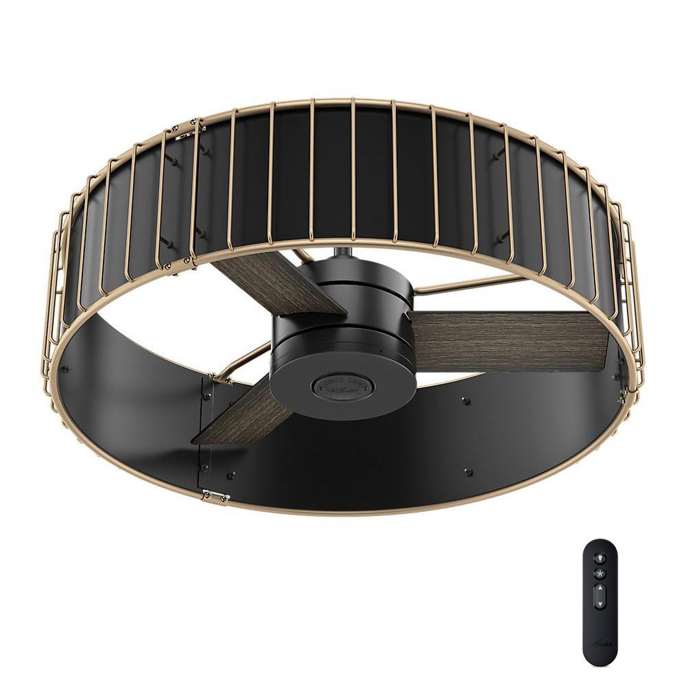 Hunter Vault 30 In Indoor Matte Black Ceiling Fan 59254 The Home