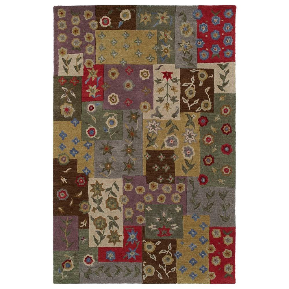 Khazana Patchwork Ivory 5 ft. x 7 ft. 9 in. Area